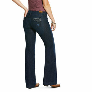Ladies Ariat Trouser Mid Rise Stretch Wide leg   - Long Leg - Sizes 25L to 34L