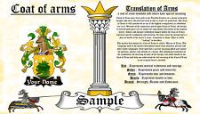 Humbauld-Humpolt COAT OF ARMS HERALDRY BLAZONRY PRINT