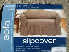 NEW Living Room SOFA Slipcover Seagrass Chocolate Brand New!