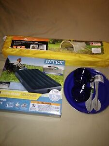 2 If 2available. One Man Backpacking tent/mattress combination package