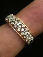 0,49 Cts Runde Brilliant Cut Natürliche Diamanten Hochzeit Ring In 585 14K Gold