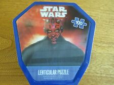 Star Wars Lenticular Darth Maul Dart Board & Puzzle 100 Pieces - In Metal Tin