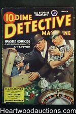 Dime Detective Mar 1944 Cornell Woolrich, D. L. Champion, T.T. Flynn - High Grad