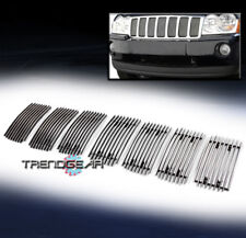FOR 2006-2008 JEEP GRAND CHEROKEE OVERLAND/SRT8 UPPER BILLET GRILLE VERTICAL 7PC
