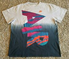 Nike Air Ombre T Shirt Big Print Graphic Men 3XL XXXL Embroidered Multi Color