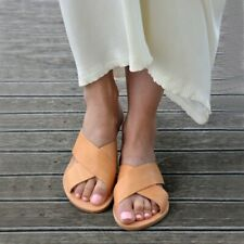 Women Flat Heel Flip Flop Slipper Casual Boho Beach Slides Slip on Summer Sandal
