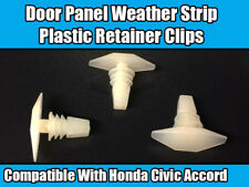 10x Clips for Honda Civic Accord T89 Door Panel Weather Strip Plastic Retainer