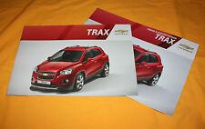 Chevrolet Trax 2013 Prospekt Brochure Depliant Prospect Catalog Broschyr Folder
