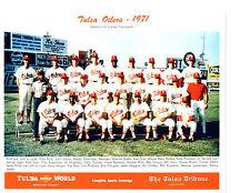 1971 TULSA OILERS  TEAM 8X10  PHOTO SPAHN HRABOSKY  BASEBALL USA OKLAHOMA
