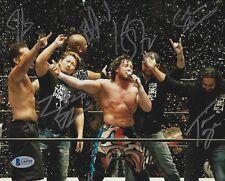 Yujiro Takahashi Tama Tonga Kenny Omega Bad Luck Fale Signed 8x10 Photo BAS COA