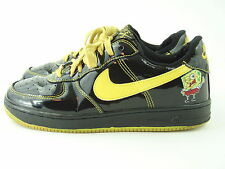 NIKE AIR FORCE 1 AF1 Black Low Top Sneakers Shoes  SPONGE BOB UNIQUE - Men's 9.5
