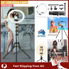 """12"""" LED Ring Light Dimmable Tripod Stand Phone Selfie YouTube Makeup Live Lamp"""