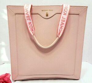 MICHAEL KORS Designer Blush Pink Glamorous Tote Bag / Shopper / Beach Bag
