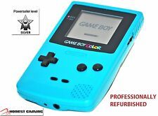 NEW GLASS SCREEN --- TEAL BLUE NINTENDO GAME BOY COLOR CGB-001 PORTABLE RESTORED