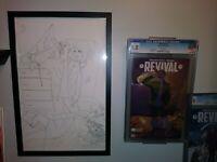 Revival #2 (image) Original Cover Art Sketch by Jenny Frison COA + CGC 9.8 Copy