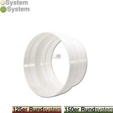165mm Rund Abluftschlauch Klimagerät Trockner Übergangsstück Verbinder 75mm