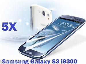 5 X  SCREEN PROTECTOR PROTECTIVE FILM SAVER FOR SAMSUNG i9300 GALAXY S3 III