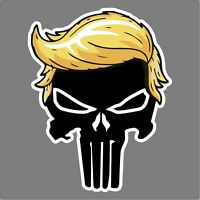 TRUMP PUNISHER with hair Donald Trump President 2020 - Magnetic Bumper Sticker