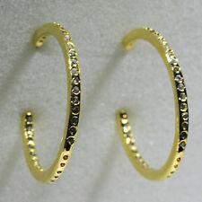 18K Yellow Gold Filled CZ Women Fashion Jewelry Stud Dangle Hoop Earrings E0256