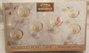 Studio Mercantile Prosecco Pong Game 12 coupes + 3 balls Holiday Bachelorette