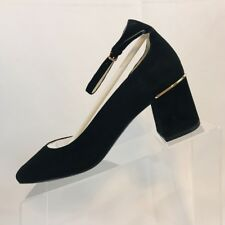 Cole Haan Warner Grand Pump Womens Suede Closed Toe Ankle Black Suede Size 8 B