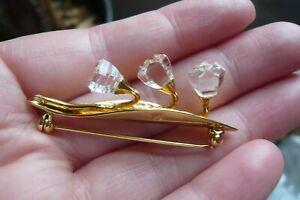 Swarovski Crystal Snowdrops Brooch