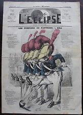 L'ECLIPSE. journal du 13 decembre 1868, n° 47.  Pompiers de Nanterre par GILL