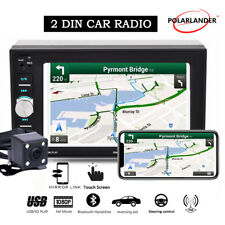 6.2'' 2 Din Car Radio Touch Screen  FM Mirror Link Stereo +Camera MP5 Player BT