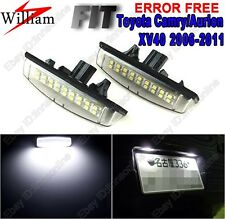 2pc Super White LED License Number Plate Light For Toyota Camry/Aurion 2006-2011