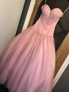 Pink Princess Size 6 Maxi Prom Dress