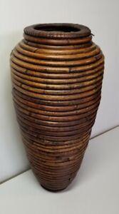 "Vintage Pencil Reed 16"" Floor Vase"