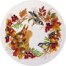 "Counted Cross Stitch Kit PANNA - ""Autumnal wreath"""