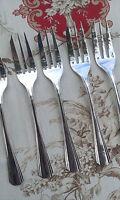 CHRISTOFLE BOREAL set 5 pastry cake forks / 5 fourchettes à gâteaux 15cm     2