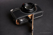 Original De Cuero Real completo cámara caso bolsa de cámara para Pentax Mx-1 mx1 parte inferior abierta