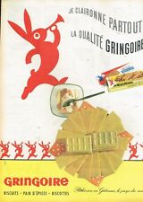I- Publicité Advertising 1962 Biscuits gaufres gaufrettes Gringoire