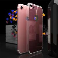 4Colors Luxury Ultra Slim Mirror Back Soft Silicone TPU Bumper Phone Case Covers