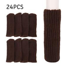 24Pcs Table Chair Desk Foot Leg Knit Cover Protector Socks Sleeve Protect Floor