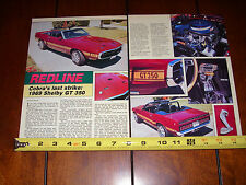 1969 SHELBY GT 350 - ORIGINAL 1991 ARTICLE