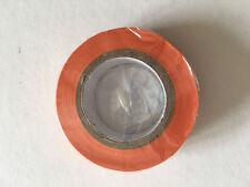 1 Rouleau de Scotch Isolant Electrique 10 mètres 15 mm couleur orange neuf