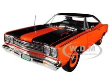 1969 PLYMOUTH ROAD RUNNER ORANGE LTD 1002 PCS 1/18 DIECAST BY AUTOWORLD AMM1131