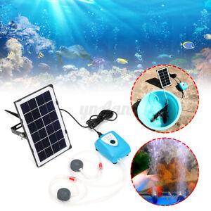 Énergie Solaire Oxygénateur Air Pompe Aérateur Oxygène Set Pour Aquarium Jardin