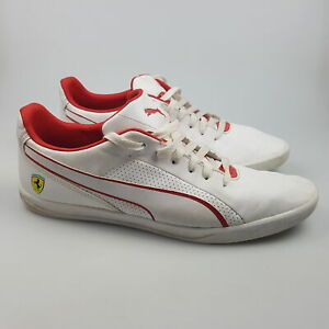 Men's PUMA 'Ferrari Selezione' Sz 12 US Shoes White VGCon | 3+ Extra 10% Off