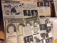 Rosetta Stone, Lot of Five Full and Two Page Vintage Clippings