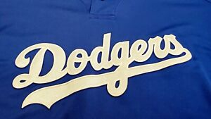 LOS ANGELES DODGERS MLB AUTHENTIC MAJESTIC BLANK XXL 2XL JERSEY SHIRT USED