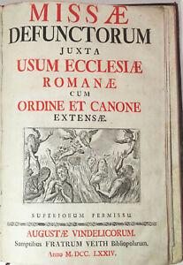 Missae Defunctorum juxta usum Ecclesiae Romanae .. 1774 Holzschnitte ! (RZ