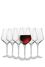 NEW Krosno Flair Shiraz Wine Glasses, Set 6 Gift Boxed, 490ml
