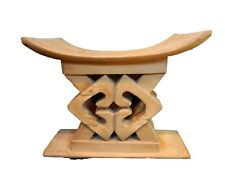 """Superb and Rare Old Ashanti Carved Wood  Stool 20.5"""" W by 16.5"""" H"""