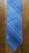 Calvin Klein 100% Silk Neck Tie light blue striped CK designer EUC fashion