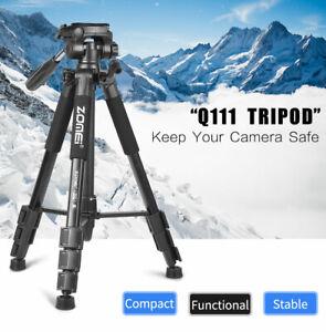 Professional ZOMEI Q111 Tripod QR Plate&Pan Head Kit For Nikon Canon DSLR Camera