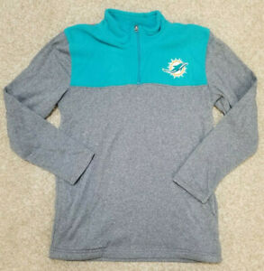 NWT NFL Miami Dolphins Boy's Long Sleeve Pull Over Jacket Size Large 14-16  w